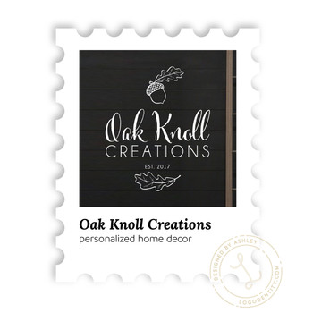 Oak Knoll Creations: personalized home decor
