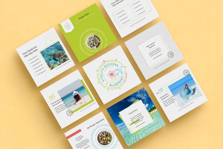 Vitality Success Blueprint Canva Templates Designed by Ashley at Logodentity