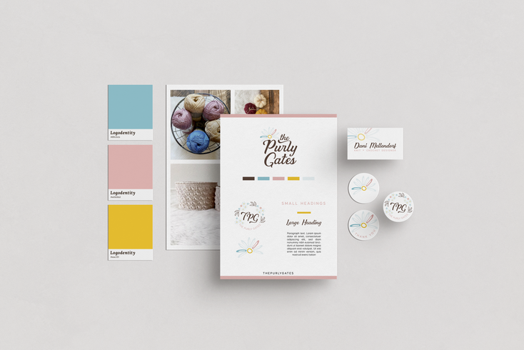 The Purly Gates Brand & Stationery Design by Ashley at Logodentity