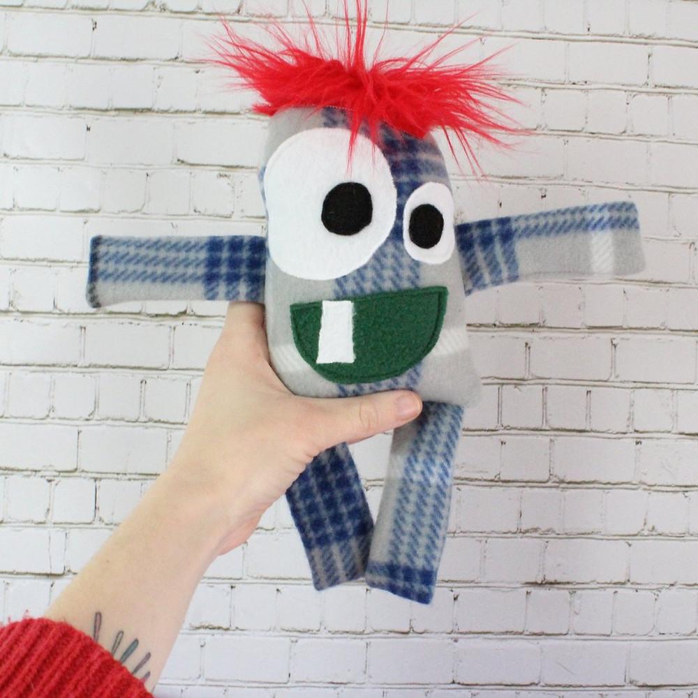 Eco-Friendly Stuffed Monster named Eugene by Lu & Ed