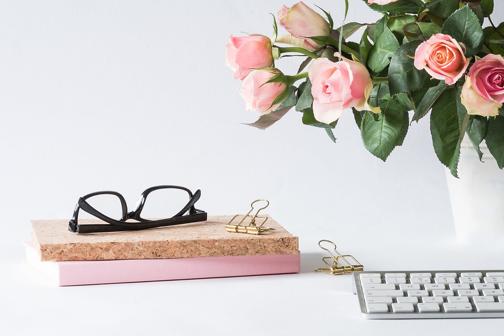 Rose Gold Desk Setting by Ylanite Koppens on Pexels