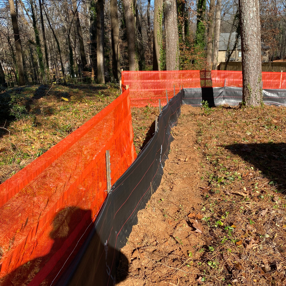 Tree Proctection Fence & D.O.T Type Silt Fence