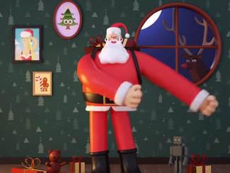 Backpack Santa