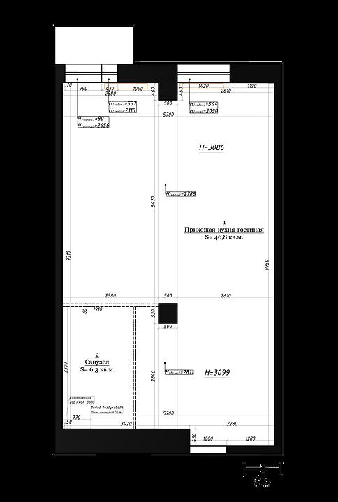 ЖК REFORM пеерпланировка 1 комнатной квартиры