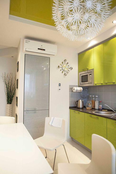 интерьер в зеленых цветах