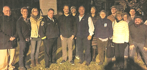 Community leaders joined Abell walkers on a chilly tuesday evening  last year