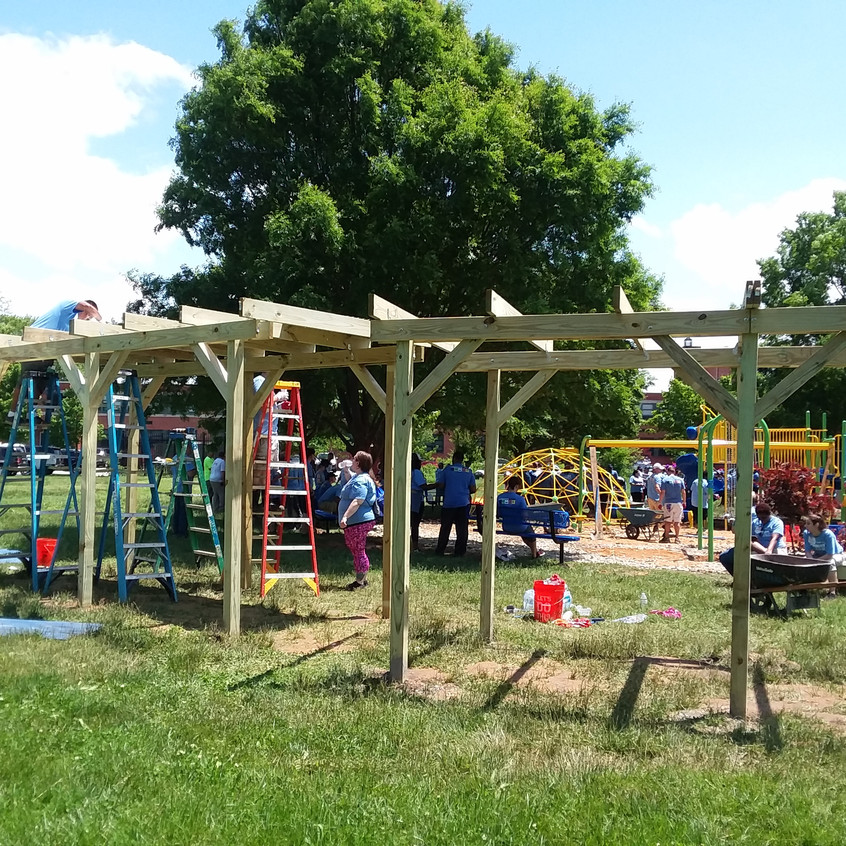 Building the shade structures
