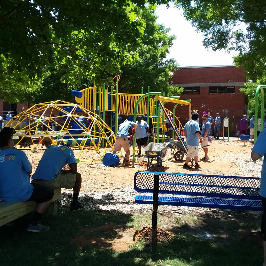 Building the play structures