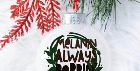 Melanin Always Poppin' Ornament