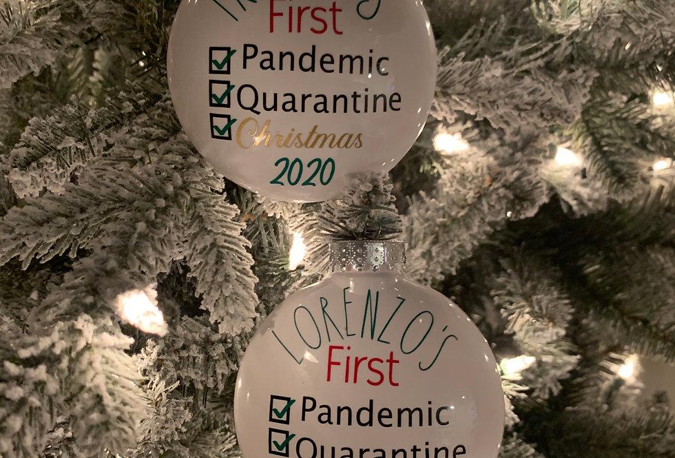 Baby's First Quarantine Christmas Ornament