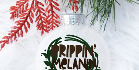 Dripping'Melanin Ornament