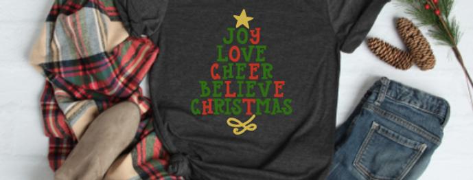 Christmas Tree Word Shirt