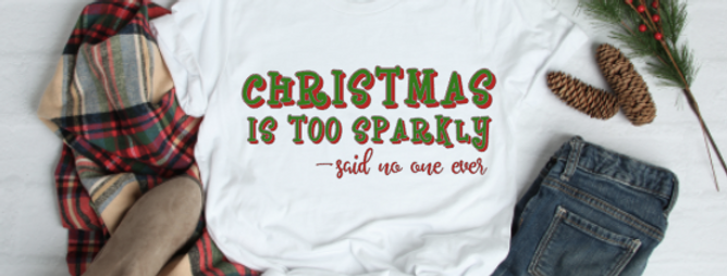 Christmas is too Sparkly...