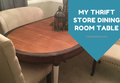 My Thrift Store Dining Room Table