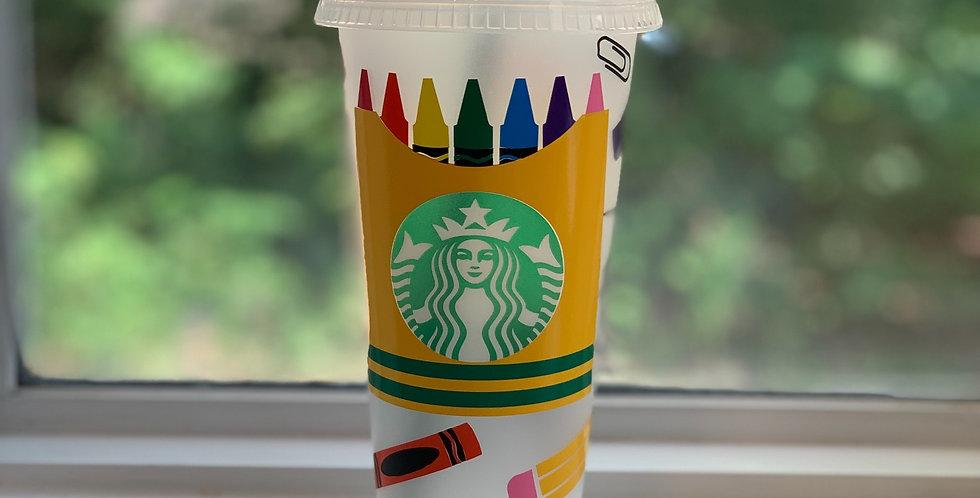 School Theme Starbucks Cup