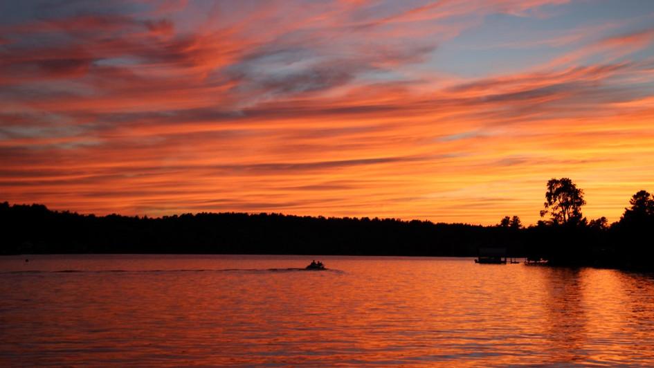 Fire Lake Sunset