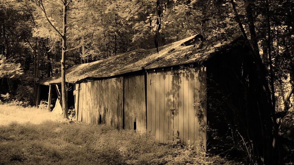 Hidden shack sepia