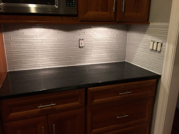 Glass Mosaic Backsplash
