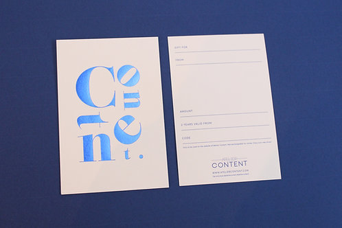 Atelier Content Gift Card