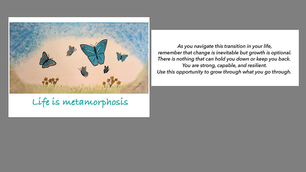 Transition Greeting Card
