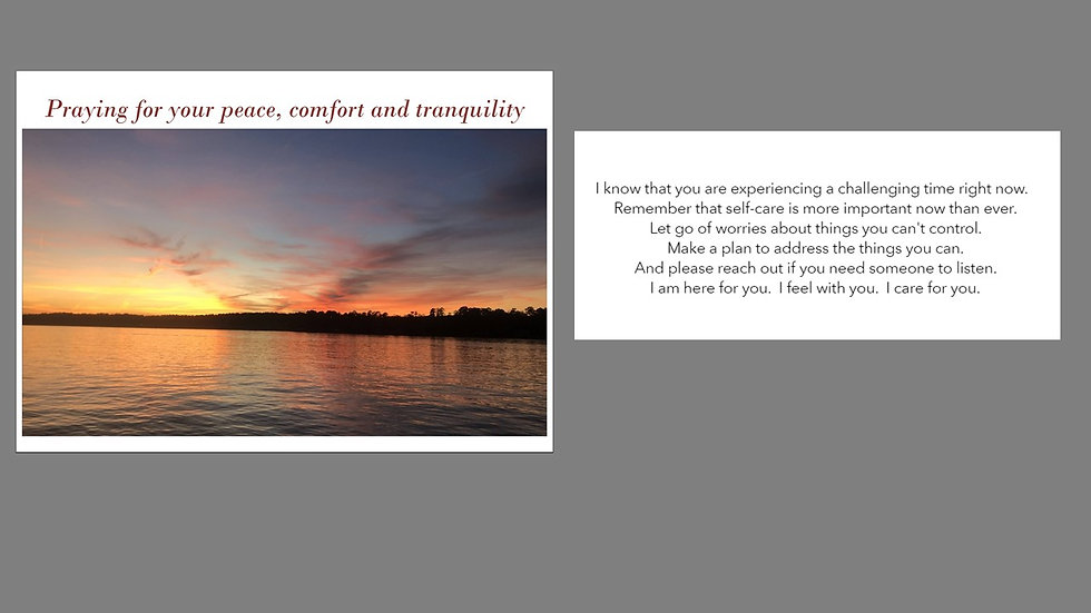 Comforting Greeting Card