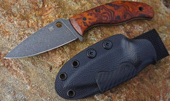 Desert Ironwood Burl Mule with carbon fiber hardware