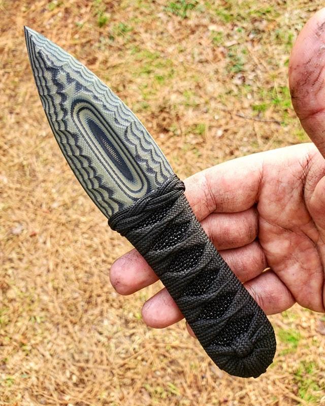 Small Knapped Clovis G10 Dagger