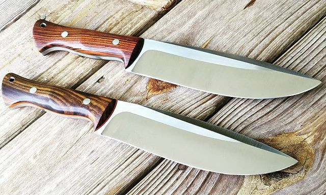 Pair of camp knives with Cocobolo handles