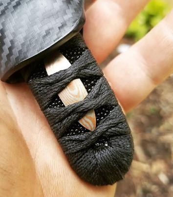 Mokume Gane Menuki for this neck knife.j