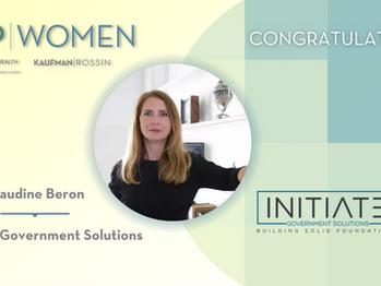Top Women Leadership Award for Claudine Beron