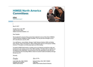 Claudine Beron to Serve as Vice Chair of HIMSS's C&BI