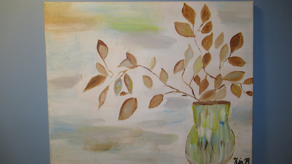 Still Leaves in Vase