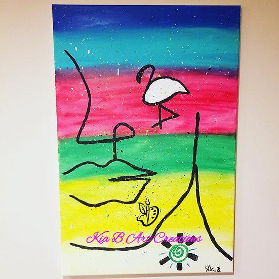 Living In Color Original Canvas