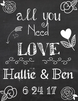 Hand-lettered Wedding Sign