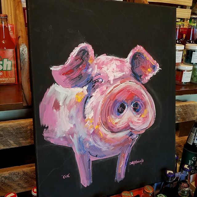 Oink! Newest painted piggies for _herita