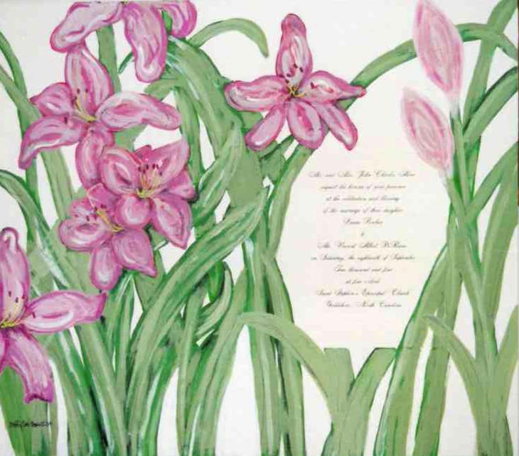 Wedding Invitation Painting