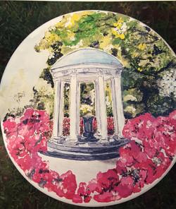 NC Debutante Stool-UNC Old Well