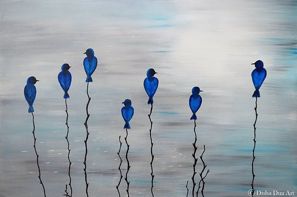 *SOLD* Blue Birds