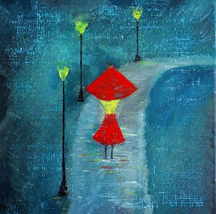 *SOLD* Walk in the rain (Born Artist Series)