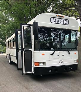 The Tuxedo Bus Magic Party Bus Wedding Party Bus KC