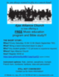 AAC Youth Concert Band Flyer Mid Session