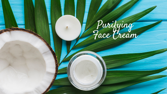 Purifying Face Cream with Coconut Oil for dry, sensitive, aging skin