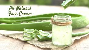 Easy DIY Face Cream with Aloe Vera Gel and Oils [VIDEO]