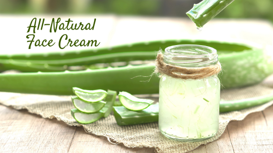 All Natural Face Cream with Aloe Vera and Oils