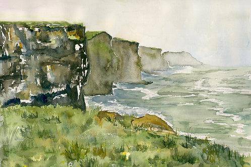 Irish Cliffs of Moher 11 x 14 matted print