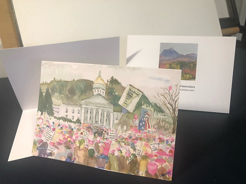 Women's March Notecards  set of 5