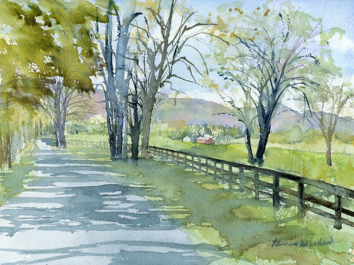 Shady Road to the Mountain - giclee
