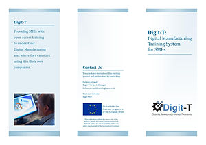Digit-T flyer - Information about the Digit-T Manufacturing Training System for SMEs