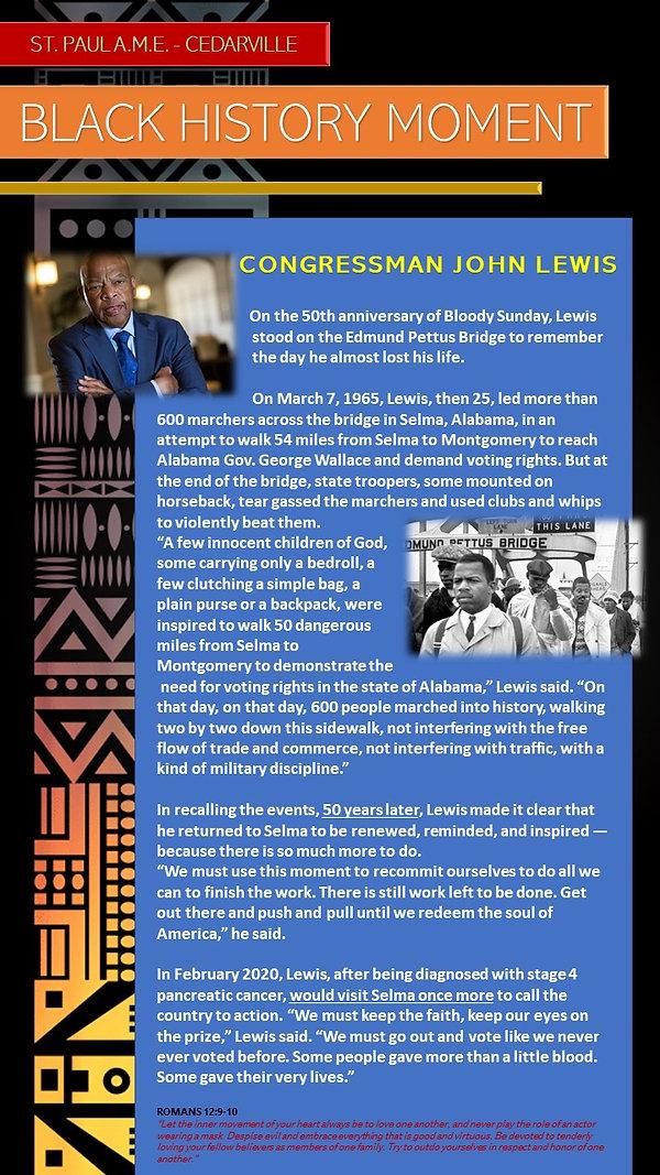 Black History Moment- John Lewis