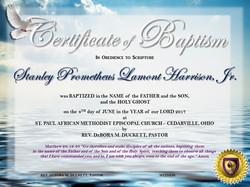 Baptism Certificates 2